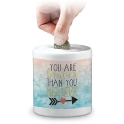 Inspirational Quotes Coin Bank (Personalized)