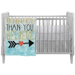 Inspirational Quotes Crib Comforter / Quilt