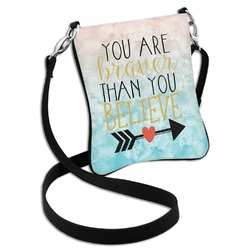 Inspirational Quotes Cross Body Bag - 2 Sizes (Personalized)