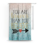 Inspirational Quotes Curtain