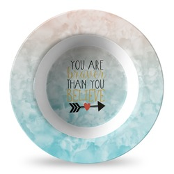 Inspirational Quotes Plastic Bowl - Microwave Safe - Composite Polymer (Personalized)