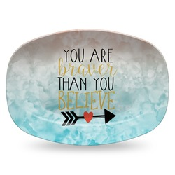 Inspirational Quotes Plastic Platter - Microwave & Oven Safe Composite Polymer