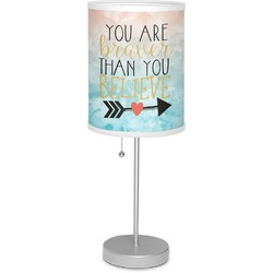 """Inspirational Quotes 7"""" Drum Lamp with Shade (Personalized)"""