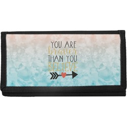 Inspirational Quotes Canvas Checkbook Cover (Personalized)