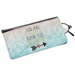 Inspirational Quotes Genuine Leather Eyeglass Case