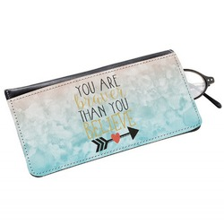 Inspirational Quotes Genuine Leather Eyeglass Case (Personalized)