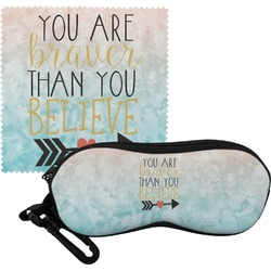 Inspirational Quotes Eyeglass Case & Cloth (Personalized)