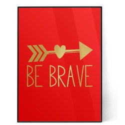 Inspirational Quotes 5x7 Red Foil Print (Personalized)