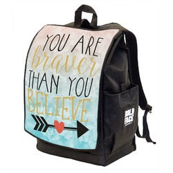 Inspirational Quotes Backpack w/ Front Flap  (Personalized)