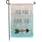 Inspirational Quotes Garden Flag - Single or Double Sided (Personalized)