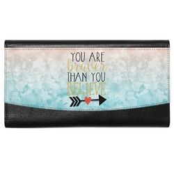 Inspirational Quotes Genuine Leather Ladies Wallet (Personalized)