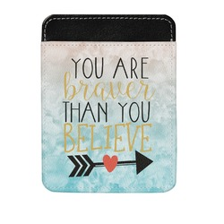 Inspirational Quotes Genuine Leather Money Clip