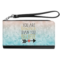 Inspirational Quotes Genuine Leather Smartphone Wrist Wallet (Personalized)
