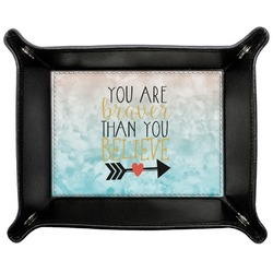 Inspirational Quotes Genuine Leather Valet Tray (Personalized)