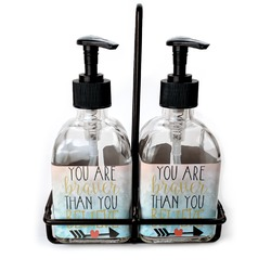 Inspirational Quotes Glass Soap & Lotion Bottles