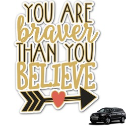 Inspirational Quotes Graphic Car Decal (Personalized)