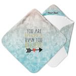 Inspirational Quotes Hooded Baby Towel