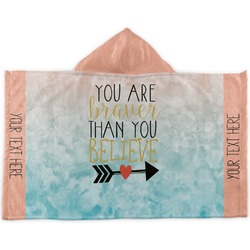 Inspirational Quotes Kids Hooded Towel (Personalized)