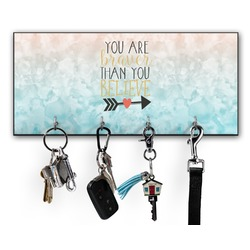 Inspirational Quotes Key Hanger w/ 4 Hooks (Personalized)