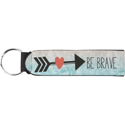 Inspirational Quotes Neoprene Keychain Fob (Personalized)