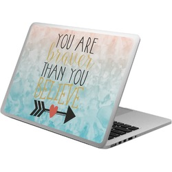 Inspirational Quotes Laptop Skin - Custom Sized (Personalized)
