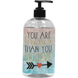 Inspirational Quotes Plastic Soap / Lotion Dispenser (Personalized)