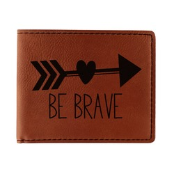 Inspirational Quotes Leatherette Bifold Wallet - Double Sided (Personalized)