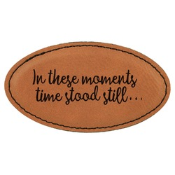 Inspirational Quotes Leatherette Oval Name Badge with Magnet (Personalized)
