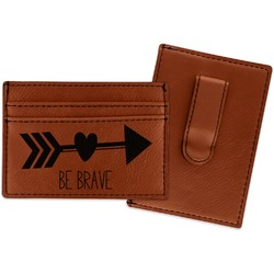 Inspirational Quotes Leatherette Wallet with Money Clip