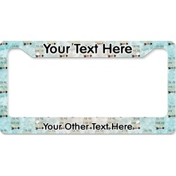 Inspirational Quotes License Plate Frame (Personalized)