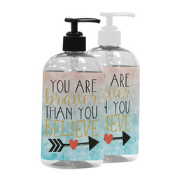 Inspirational Quotes Plastic Soap / Lotion Dispenser