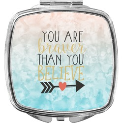 Inspirational Quotes Compact Makeup Mirror