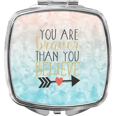 Inspirational Quotes Compact Makeup Mirror