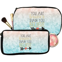 Inspirational Quotes Makeup / Cosmetic Bag (Personalized)