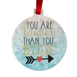 Inspirational Quotes Metal Ball Ornament - Double Sided