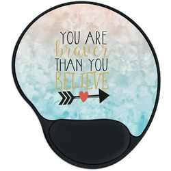 Inspirational Quotes Mouse Pad with Wrist Support