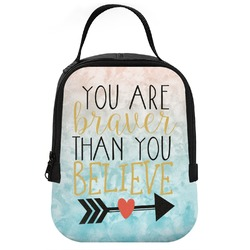 Inspirational Quotes Neoprene Lunch Tote (Personalized)