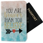 Inspirational Quotes Passport Holder - Fabric (Personalized)