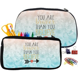 Inspirational Quotes Pencil / School Supplies Bag (Personalized)