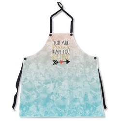 Inspirational Quotes Apron Without Pockets
