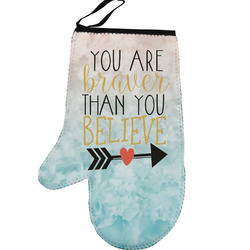 Inspirational Quotes Left Oven Mitt (Personalized)