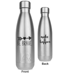 Inspirational Quotes RTIC Bottle - Silver - Engraved Front & Back (Personalized)