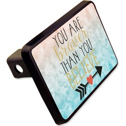 "Inspirational Quotes Rectangular Trailer Hitch Cover - 2"" (Personalized)"
