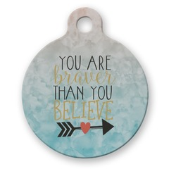 Inspirational Quotes Round Pet Tag (Personalized)