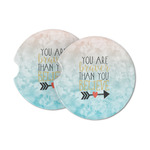 Inspirational Quotes Sandstone Car Coasters