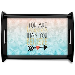 Inspirational Quotes Black Wooden Tray (Personalized)