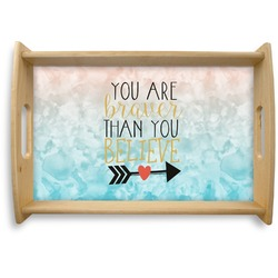 Inspirational Quotes Natural Wooden Tray (Personalized)