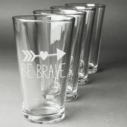 Inspirational Quotes Beer Glasses (Set of 4) (Personalized)