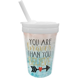 Inspirational Quotes Sippy Cup with Straw