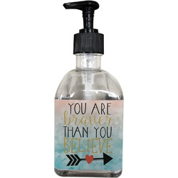 Inspirational Quotes Soap/Lotion Dispenser (Glass) (Personalized)